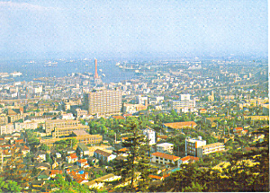 Panoramic View, Kobe Port, Japan Postcard (Image1)
