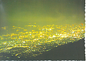 Mt Rokko, Night View From Top, Japan Postcard (Image1)