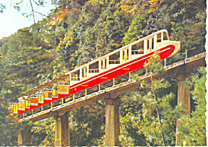 Mt Rokko, Cable de luxe car, Japan Postcard (Image1)