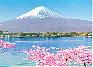 Mt Fuji from Lake Kawaguchi Japan Postcard cs1433 (Image1)