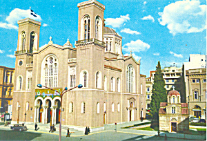 Cathedral Metropolis Greece Postcard cs1441 (Image1)