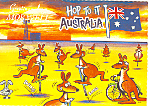 Hop To It Australia Postcard cs1468 (Image1)