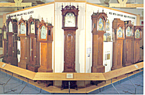 Tall Case Clocks at Old Sturbridge Village MA Postcard cs1479 (Image1)