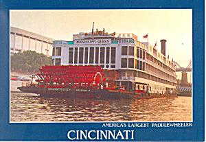 America s Largest  Paddlewheeler Postcard cs1482 (Image1)