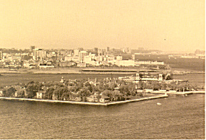 Aerial View of Ellis Island, New York Postcard (Image1)