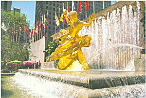 Prometheus Statue Rockefeller Center NY Postcard cs1490 (Image1)