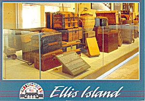 Baggage Room,Ellis Island, New York Postcard (Image1)