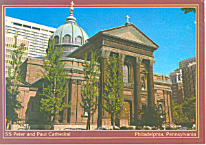 St Peter And Paul Cathedral Philadelphia Pa Postcard Cs1518