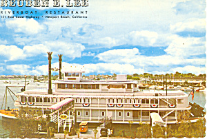 Riverboat Restaurant  Newport Beach  CA Postcard cs1530 (Image1)