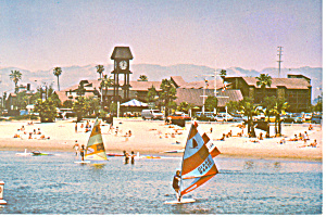 Marina International Hotel, Marina del Ray, CA Postcard (Image1)