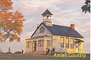 Amish One Room Schoolhouse Postcard cs1556 (Image1)