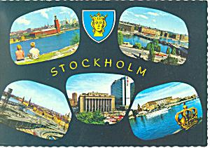 Views of Stockholm Sweden  Postcard cs1577 1969 (Image1)