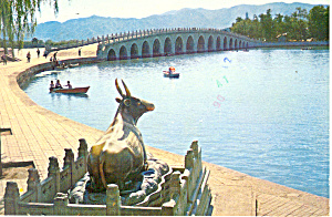 The Bronze Ox , Seventeen Arch Bridge, Peking, China (Image1)