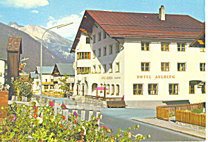 Hotel Arlberg,and St Anton Mountain, Austria  Postcard (Image1)