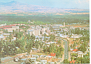 Aerial View of Addis Ababa Ethiopia Postcard cs1591 (Image1)