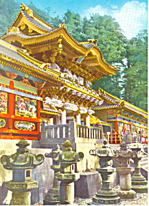 Yomeimon Gate at Nikko Shrine  Japan Postcard cs1613 (Image1)