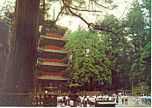Beautiful Five Storied Pagoda  Japan Postcard cs1615 (Image1)