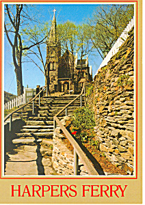 St Peters Church, Harpers Ferry, Wv Postcard