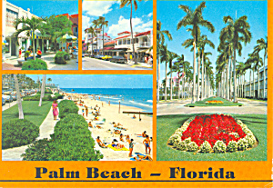 Palm Beach Florida Postcard cs1640 1988 (Image1)