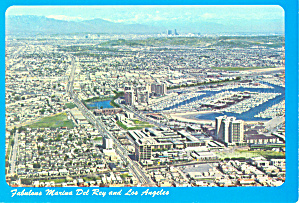 Marina Del Ray and Los Angeles CA Postcard cs1659 (Image1)