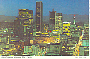 Downtown Los Angeles CA Postcard cs1660 (Image1)