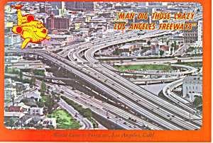 World Famous Freeways Los Angeles CA Postcard cs1661 (Image1)