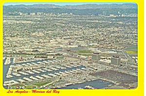 Los Angeles CA  and Marina Del Ray Postcard cs1662 (Image1)