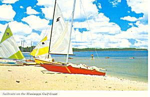 Sailboats on the Mississippi Gulf Coast Postcard cs1679 (Image1)