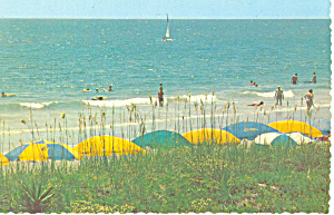 Myrtle Beach SC Umbrellas on Beach Postcard cs1682 (Image1)