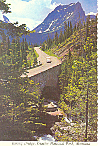 Baring Bridge Glacier National Park  MT Postcard cs1697 (Image1)