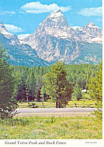 Grand Teton Peak, Grand Teton National Park Postcard (Image1)