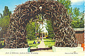 Arch of Elkhorm Jackson Hole, WY Postcard 1972 (Image1)