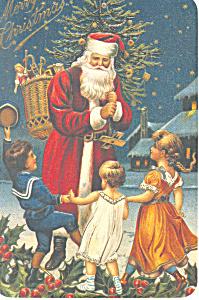 Santa Claus with Children Christmas Postcard cs1726 (Image1)