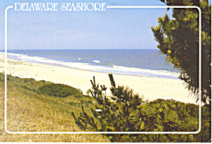 Delaware Seashore  Postcard 1989 (Image1)