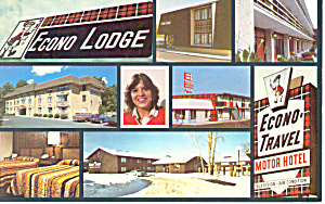 Econo Lodge Motor Hotel Postcard Cs1743