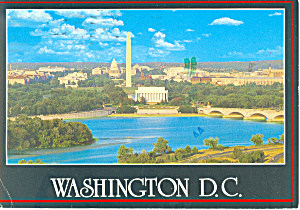 Lincoln Memorial Washington DC Postcard 1988 (Image1)