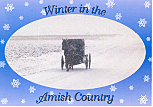 Winter In The Amish Country Postcard Cs1799