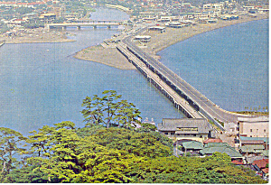 Bridge at Katase Beach, Japan Postcard (Image1)