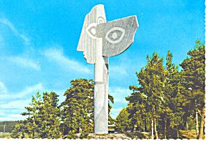 Kristinehamn, Sweden Skulpiur av Picasso Postcard (Image1)