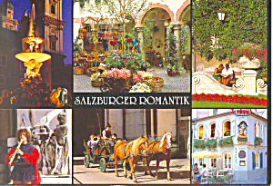 Views of Romantic Salzburg Austria Postcard (Image1)