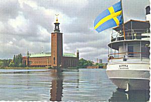 Stockholm, Sweden Stadtshusel Postcard (Image1)