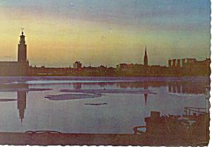 Stockholm, Sweden Riddarfjarchen Postcard 1964 (Image1)