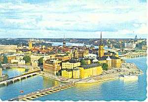 Stockholm Sweden Riddarholmen Postcard cs1877 (Image1)