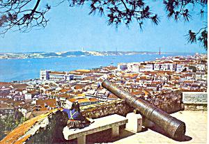 Lisbon,Portugal Partial View Postcard (Image1)