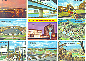 Highlights of Australia's Capitol Canberra Postcard (Image1)
