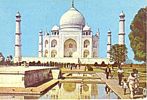 Taj Mahal Agra India Postcard cs1937 1971 (Image1)