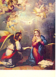La Anunciacion, Murillo Postcard
