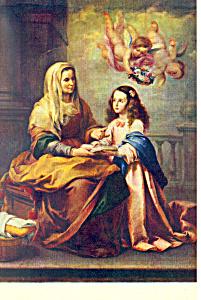 Sta. Ana Y la Virgen, Murillo Postcard cs1963 (Image1)