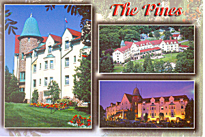 The Pines Resort Hotel Nova Scotia Postcard Cs1973