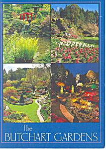 Butchart Gardens Victoria BC Canada Postcard cs1974 (Image1)